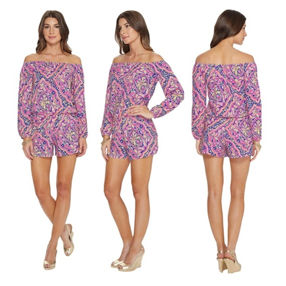a1d91718ad6b NWT Lilly Pulitzer Lana Romper in  Can t Resist